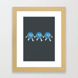 bean friend Framed Art Print