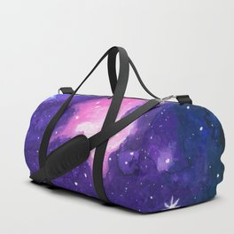 Sanctuary, Nebula Galaxy Stars Watercolor Duffle Bag