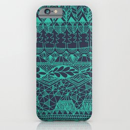 Mountain Tapestry in Midnight Teal iPhone Case