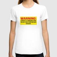 lacrosse T-shirts featuring Lacrosse is dangerous by laxwear