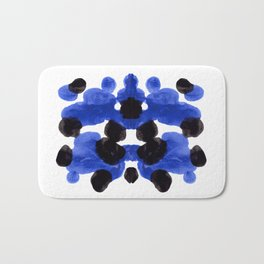 Periwinkle Purple Blue And Black Ink Blot Diagram Bath Mat