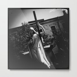 Cross, Glass and Grief  [ver.1] Metal Print