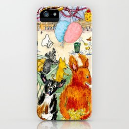 The Dogs Take Over Coney Island iPhone Case