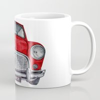 mini cooper Mugs featuring Mini Cooper by Jorge Antunes