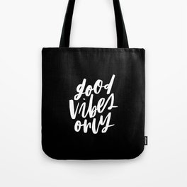 Good Vibes Only Black Tote Bag