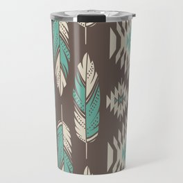 Native Roots - Turquoise & Brown Travel Mug