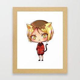 Kenma Kozume Chibi - Haikyuu! Framed Art Print