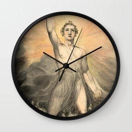 "William Blake ""Angel of the Revelation (Book of Revelation, chapter 10)"" Wall Clock"