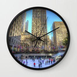 New York Ice Skating Wall Clock