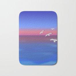 Where the ocean meets the sky Bath Mat