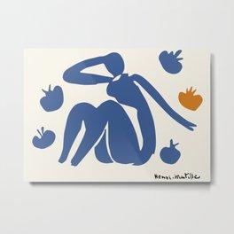 Henri Matisse Nu Bleu Aux Pommes (Blue Nude With Orange) 1954 Artwork Metal Print