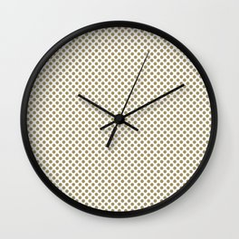 Khaki Polka Dots Wall Clock