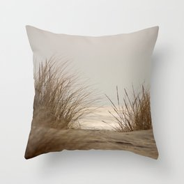 Whispering Grass Throw Pillow