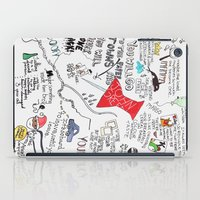 paper towns iPad Cases featuring Paper towns, John Green by Natasha Ramon