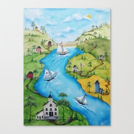 Hudson Vally Regatta Canvas Print