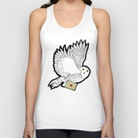 hedwig Tank Tops featuring Hedwig by AriesNamarie