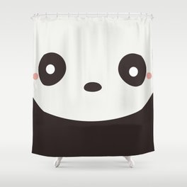 Kawaii Cute Panda Bear Shower Curtain
