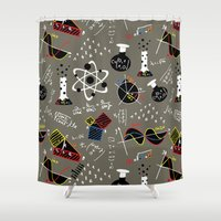 science Shower Curtains featuring Science Fair by beach please