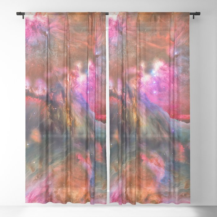 Deep Space Storm No3 Sheer Curtain