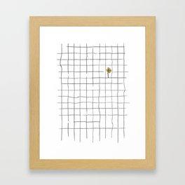yellow flower pattern Framed Art Print