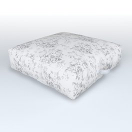 Wite Roses Outdoor Floor Cushion