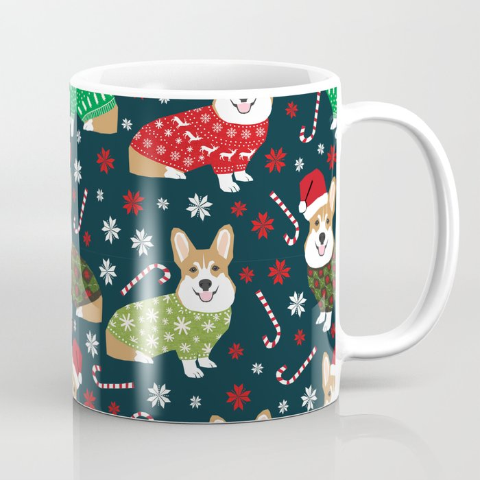 Corgi christmas sweater ugly sweater party with welsh corgis dog lovers dream christmas coffe mug by PetFriendly