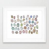 bears Framed Art Prints featuring Bears by Hannah Drossman