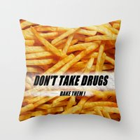 fries Throw Pillows featuring French Fries by Ispas Sorin