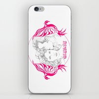 grease iPhone & iPod Skins featuring Grease (Sketch & bird design) by Rene Alberto