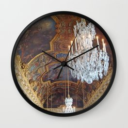 Chandeliers of Versailles Wall Clock