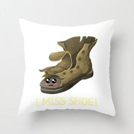 I'm Falling Apart, I Miss Shoe Cute Shoe Pun Throw Pillow