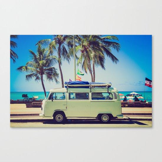 Camper beach 5 Canvas Print