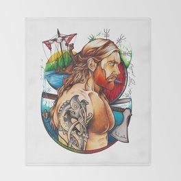 Viking warrior Throw Blanket