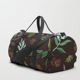 Simple and stylized flowers 16 Duffle Bag