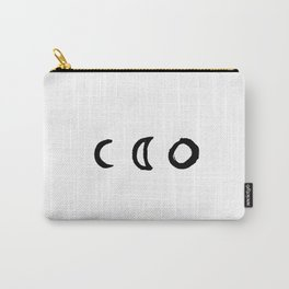 I'd Give You the Moon - White Carry-All Pouch