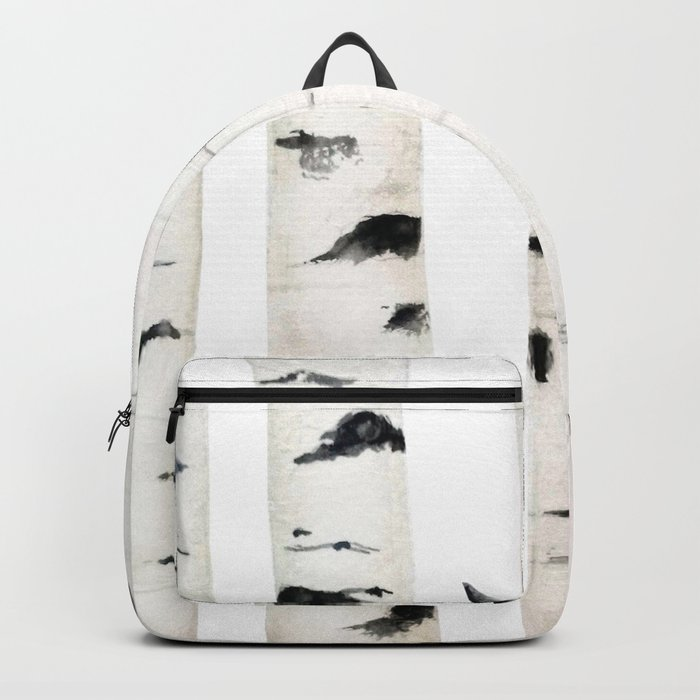 birch  watercolor Backpack