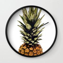 Pineapple print,tropical art,minimalist,modern art,palm print,pineapple decor Wall Clock