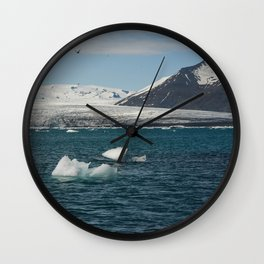 floating glaciers Wall Clock