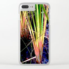 Tropical Pond Grasses Clear iPhone Case
