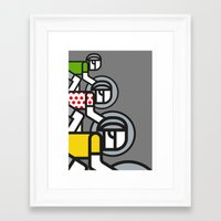tour de france Framed Art Prints featuring Peloton Tour De France by sonsofwolves