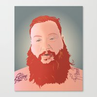 action bronson Canvas Prints featuring Action Bronson Portrait by Solglo
