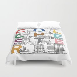 Colchester Town - Typoline Cities Duvet Cover