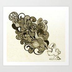 the vomit Art Print