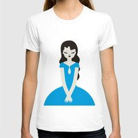 dress T-shirts featuring Blue dress by Marco Recuero
