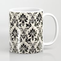 damask Mugs featuring Damask by MJ Lira Photography
