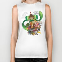 katamari Biker Tanks featuring Chestnut Katamari by Ed Warner