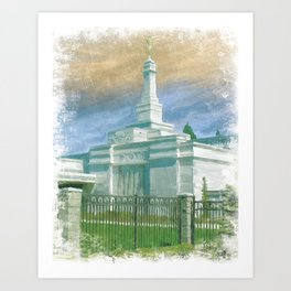 Spokane Washington LDS Temple Art Print