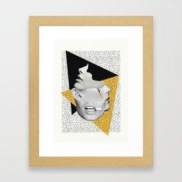 collage art / Faces Framed Art Print