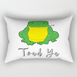Toad Ya Funny Toad Frog Amphibian Biologist Medical Student Rectangular Pillow