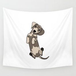 Happy dachshund illustration Wall Tapestry